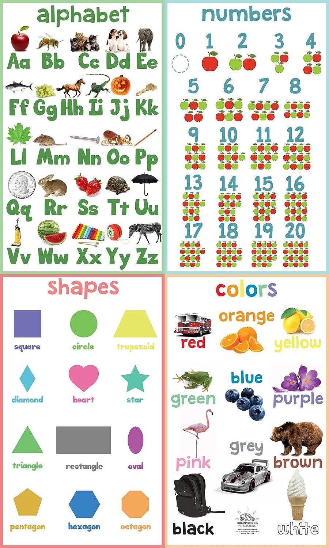 - Amazon.com: Kindergarten Basic Skills Learning Charts (Educational