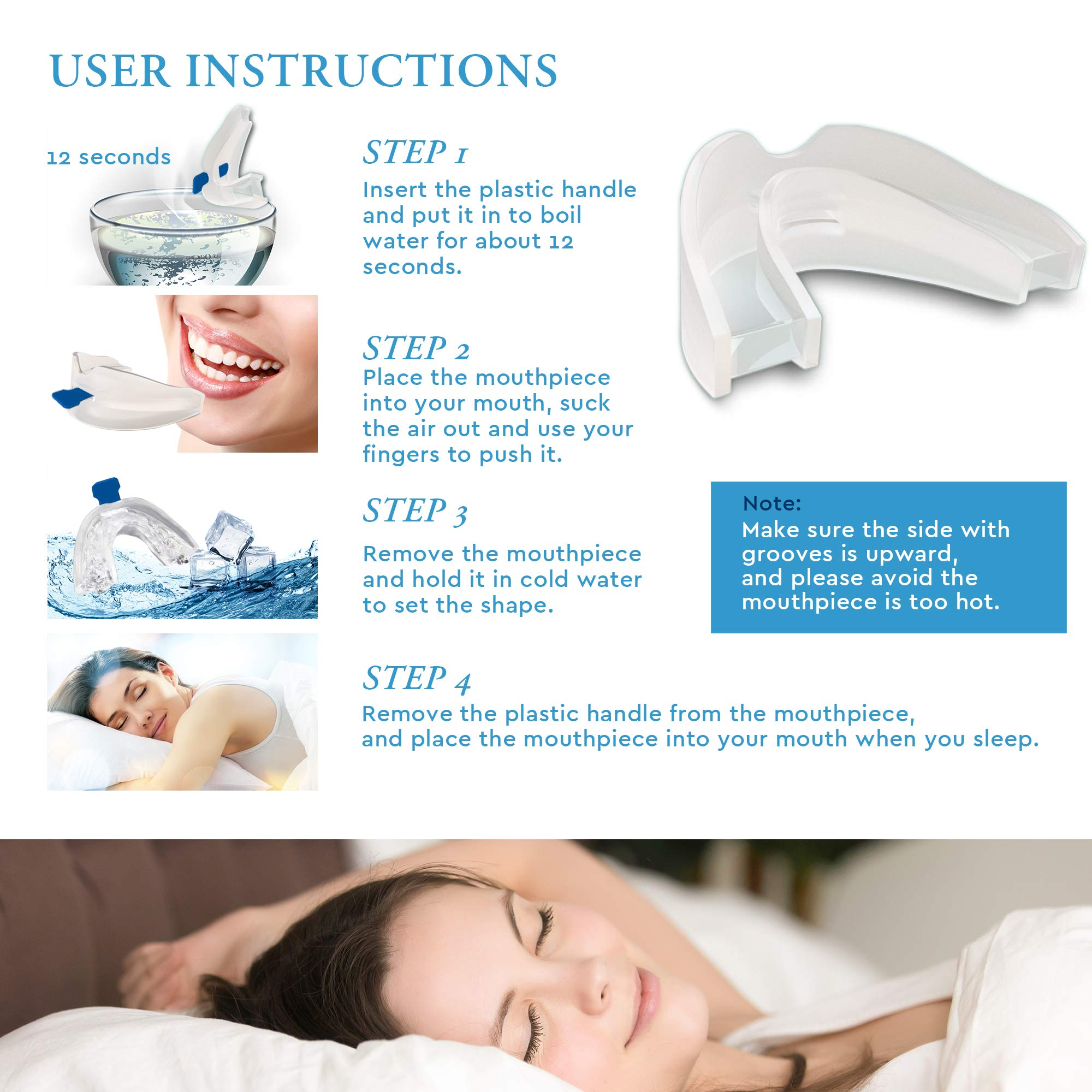 Snore Stopper - Anti Snoring Devices, Snore Reduction Night Guard for Quiet Night by AXELIT