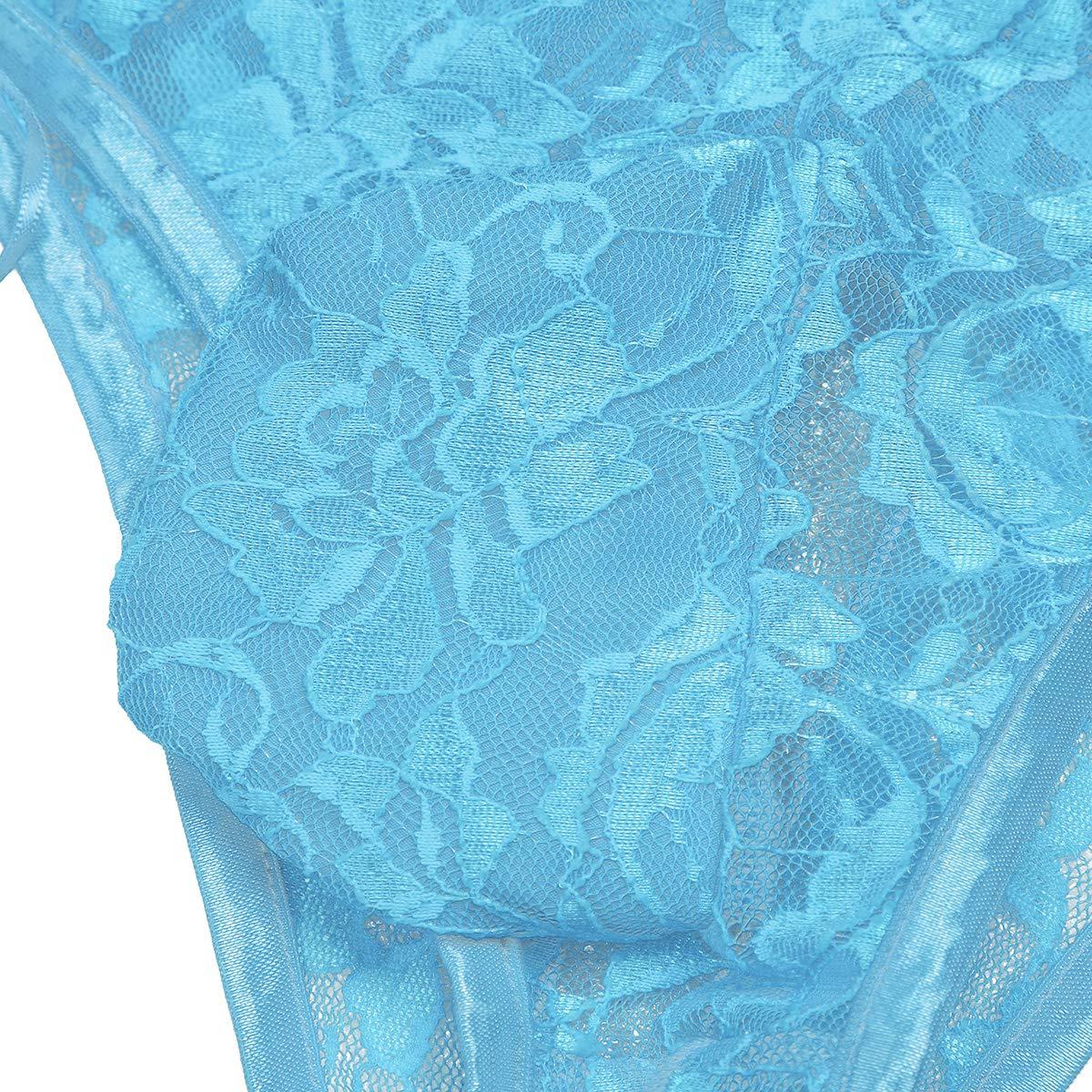 iixpin Herren Spitze Floral String M/änner Bikinislips Dessous-Unterw/äsche Sissy Unterhose Slips M/änner Boxershorts Erotik Tanga Underwear