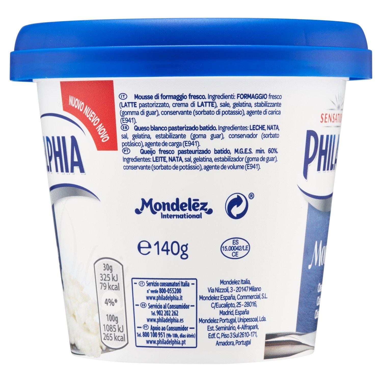 Philadelphia Queso Crema Mousse Original - 140 gr: Amazon.es: Alimentación y bebidas