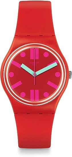 Swatch Reloj Digital para Mujer de Cuarzo con Correa en Silicona GR170: Amazon.es: Relojes