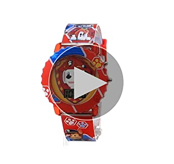 Nickelodeon Kids' PAW4016 Paw Patrol Digital Display Quartz Multi-Color Watch