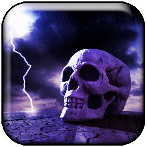 lightning skull interactive live wallpaper