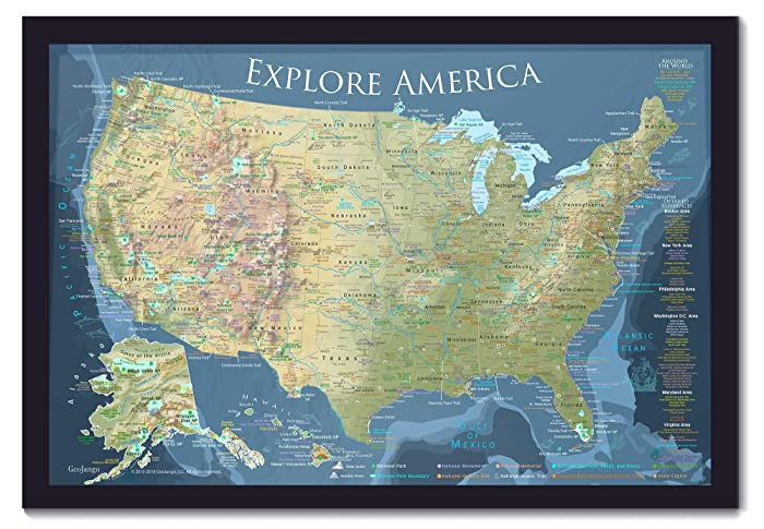 Amazon Com National Parks Map Includes 100 Push Pins Usa