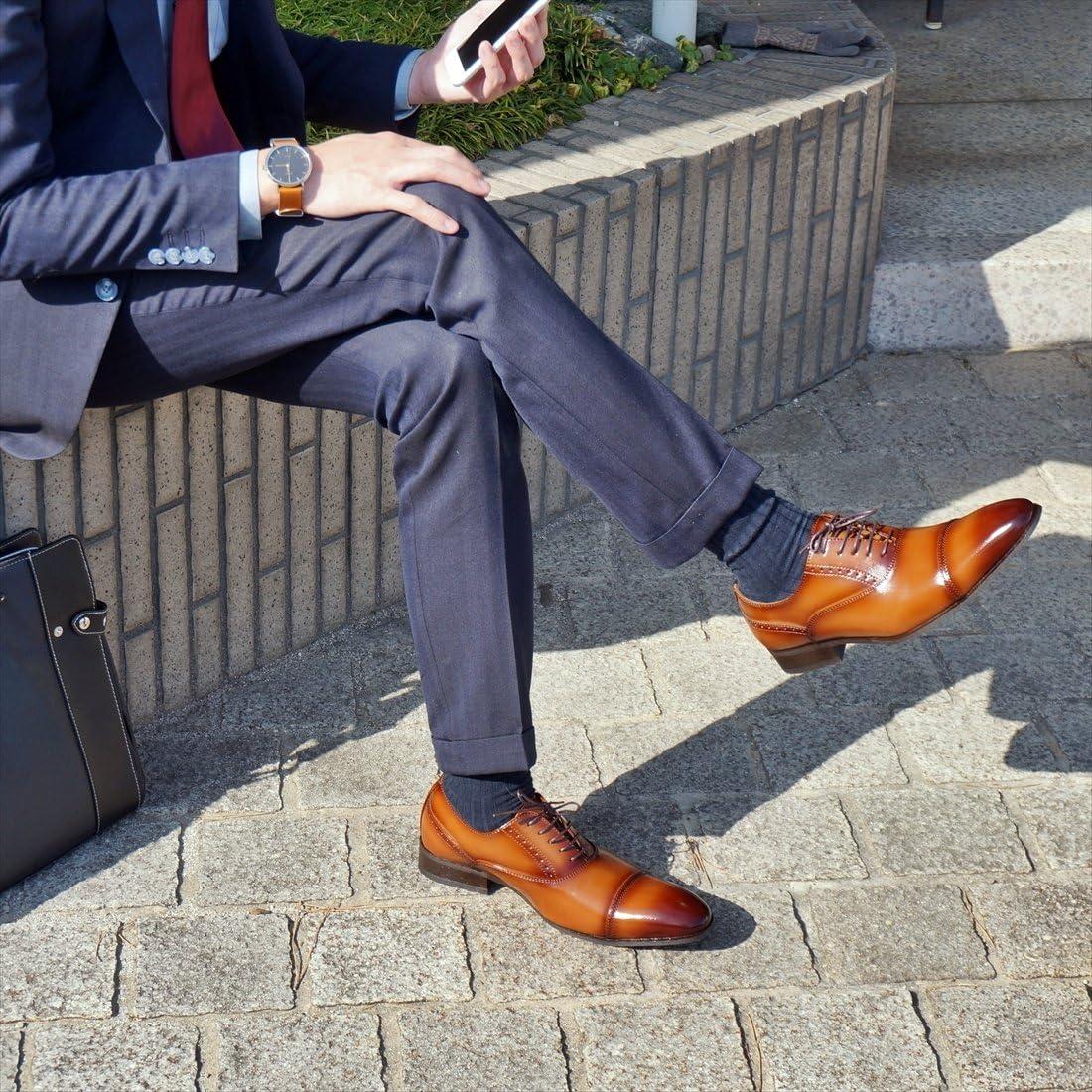 [ライム ガーデン] ビジネスシューズ ストレートチップ LG201 メンズ ブラウン 27.0 cm
