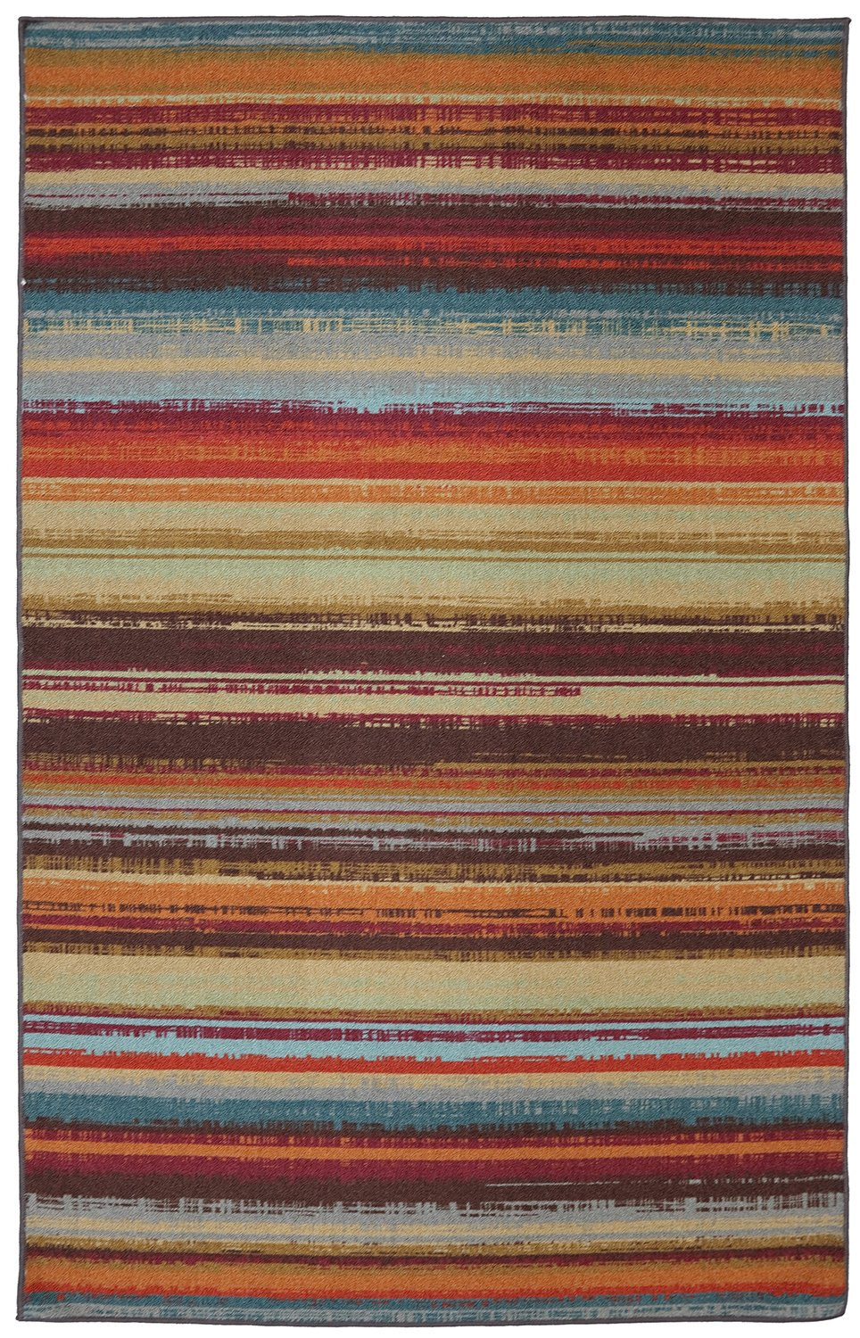 Mohawk Home Avenue Stripes Indoor/ Outdoor Printed Area Rug, 7'6x10', Multicolor by Mohawk Home (Image #1)