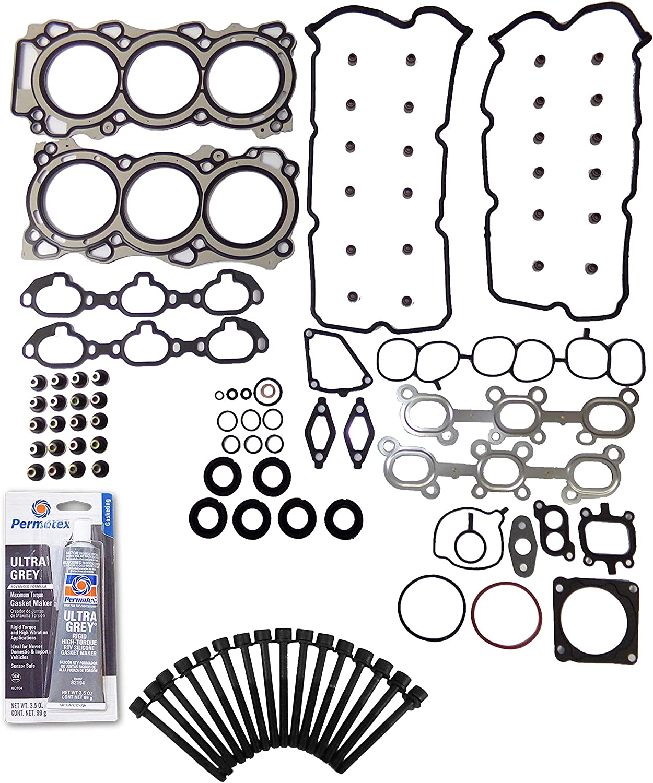 Head Gasket Set Bolt Kit Fits 00-01 Infiniti I30 Nissan Maxima 3.0L DOHC 24v VQ30DE