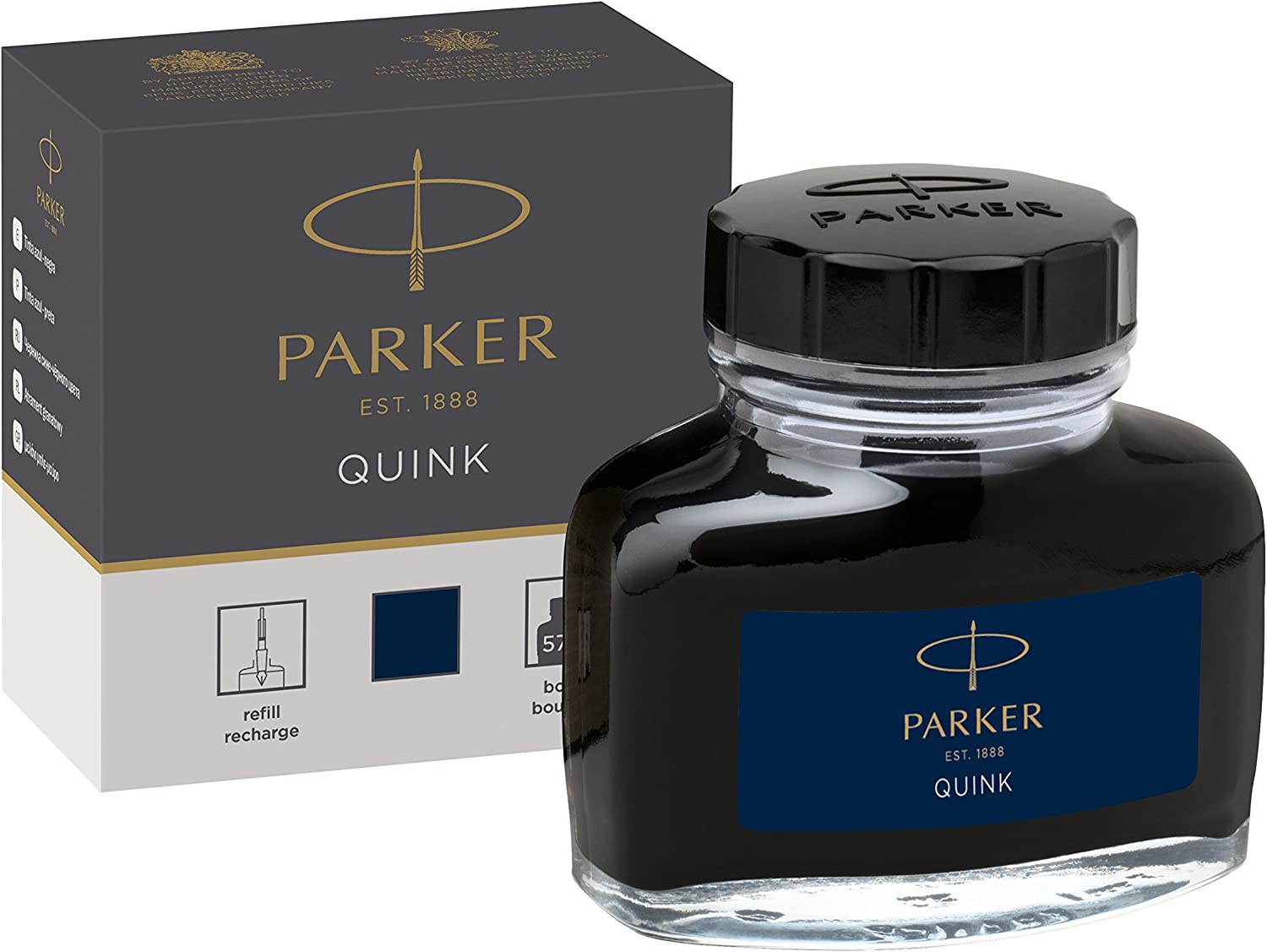 PARKER QUINK Ink Bottle for Fountain Pens