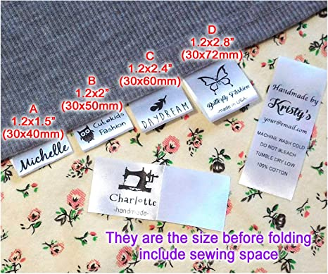 32 Photo Sew In Ribbon School Nursery Nursing Care Home Clothing Name Labels