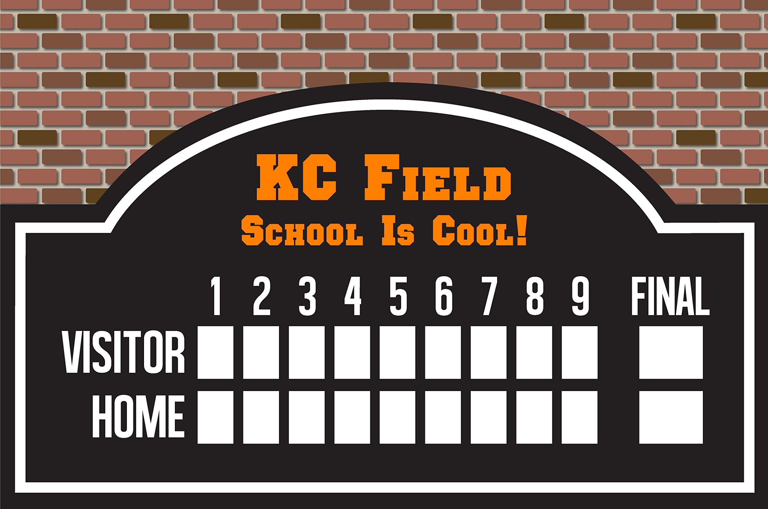 Custom Printed Personalized Dry Erase Wiffleball/Baseball Scoreboard
