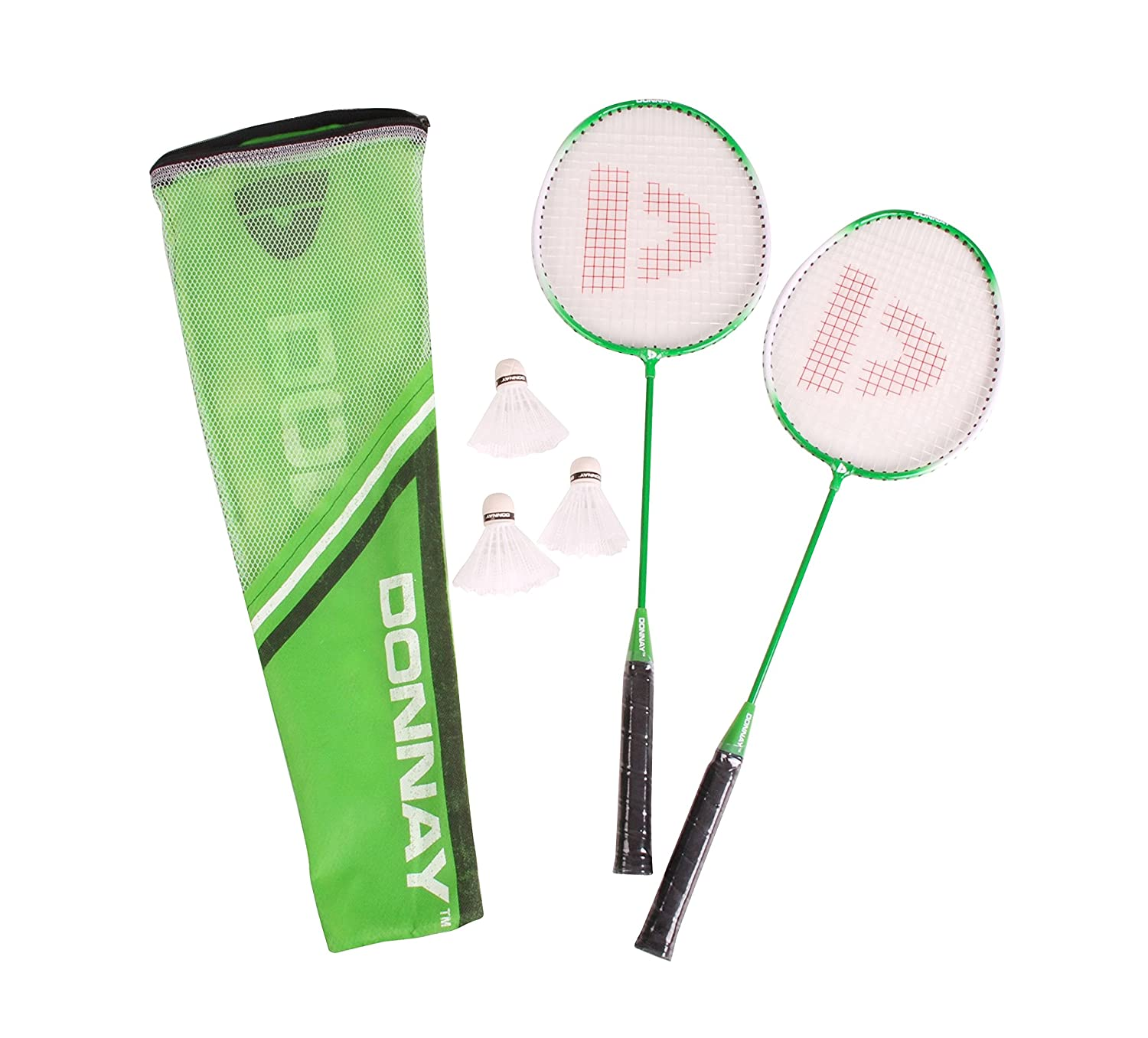 2 Rackets Badminton Set Shuttlecock Incl Carry Bag 2 Player Family Donnay Outdoor Sport Game 41392