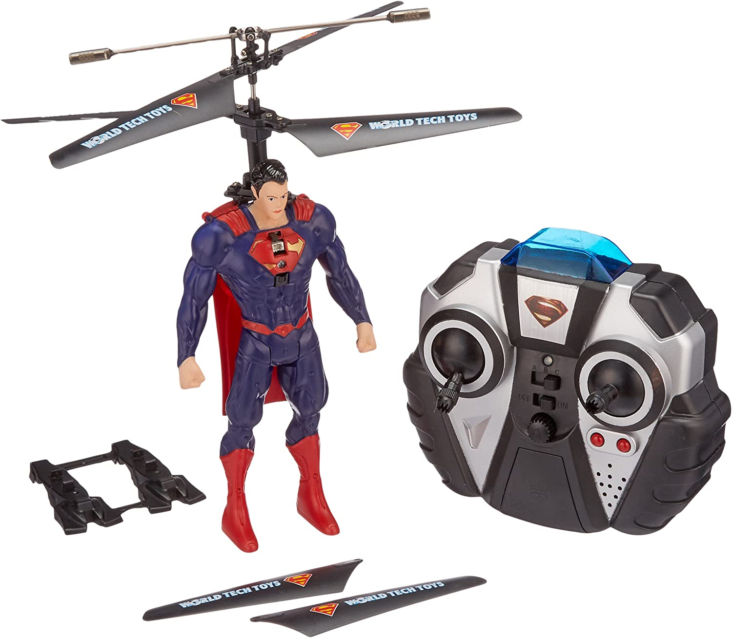 B00LOQVOIQ World Tech Toys Superman DC Comic 3.5 CH Helicopter 8197y97Pw5L