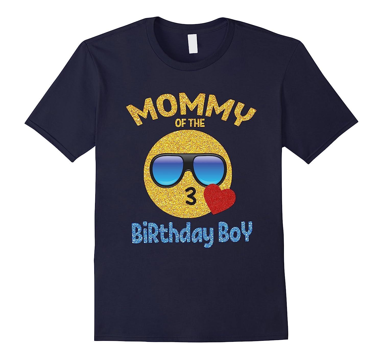 Mommy of the Birthday Boy Emoji Shirt Kiss Heart Emoji Tee-Vaci