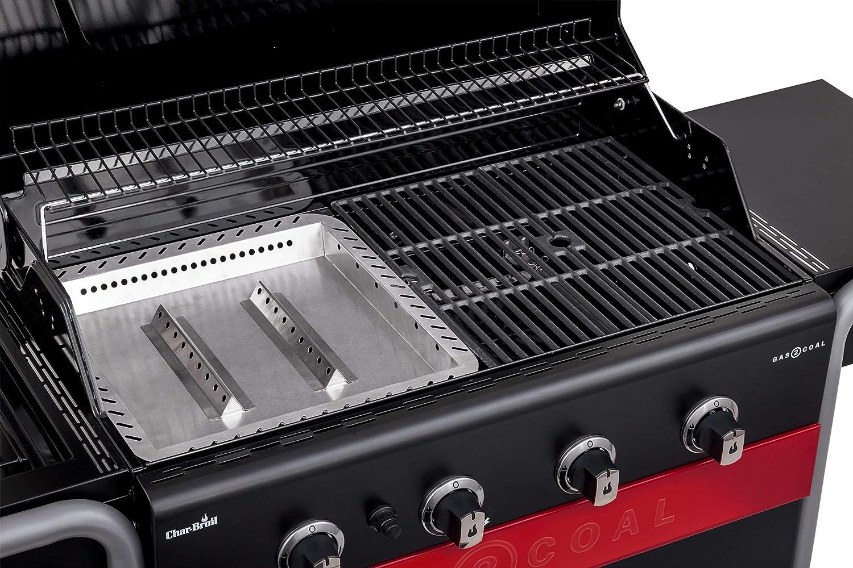 Char-Broil Gas2Coal® Barbacoa híbrida 440: Barbacoa de Gas y carbón de Cuatro quemadores, Acabado en Negro.