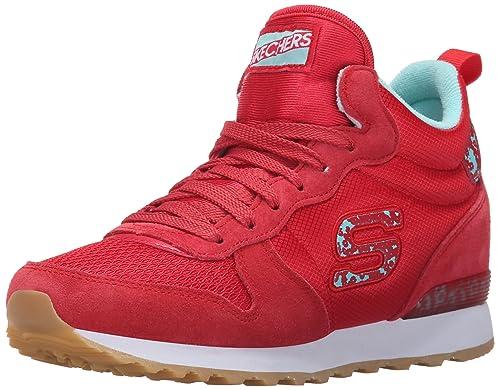 Skechers Originals OG 85 Ditzy Dancer, Zapatillas de Deporte para Mujer, Rojo (Rdaq