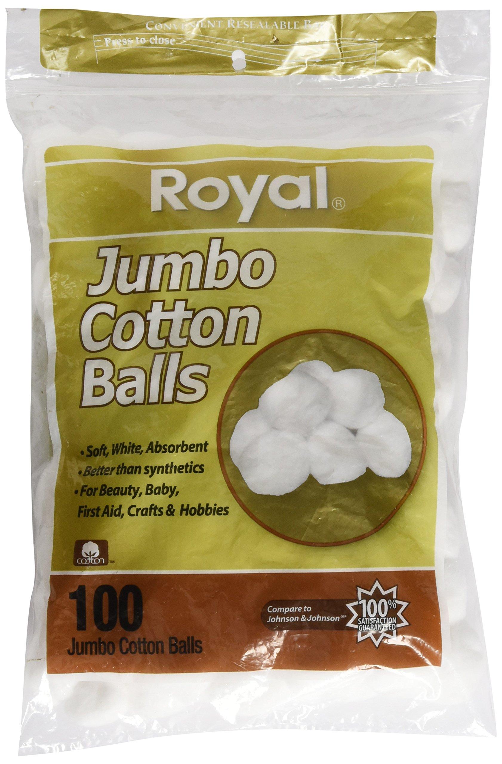 100 Count Jumbo Cotton Balls