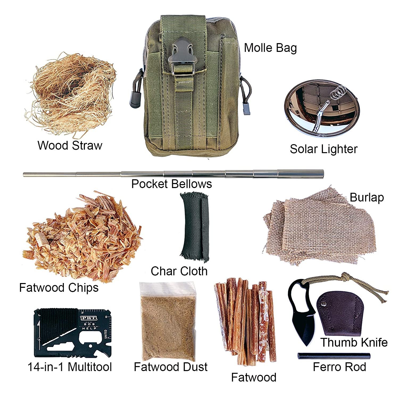 Magnesium Shavings//Chips Fire Starter 8 bags