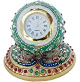 Ansuya Enterprises Handcrafted Meenakari Work Decorative Office Table Marble Ball Shape Watch
