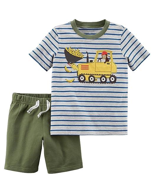 c19d9ca70029 Carter s Polo da taschino da sole a manica corta da uomo in cotone da 5 t e  pantaloncini in spugna francese per bambini e ragazzi  Amazon.it   Abbigliamento