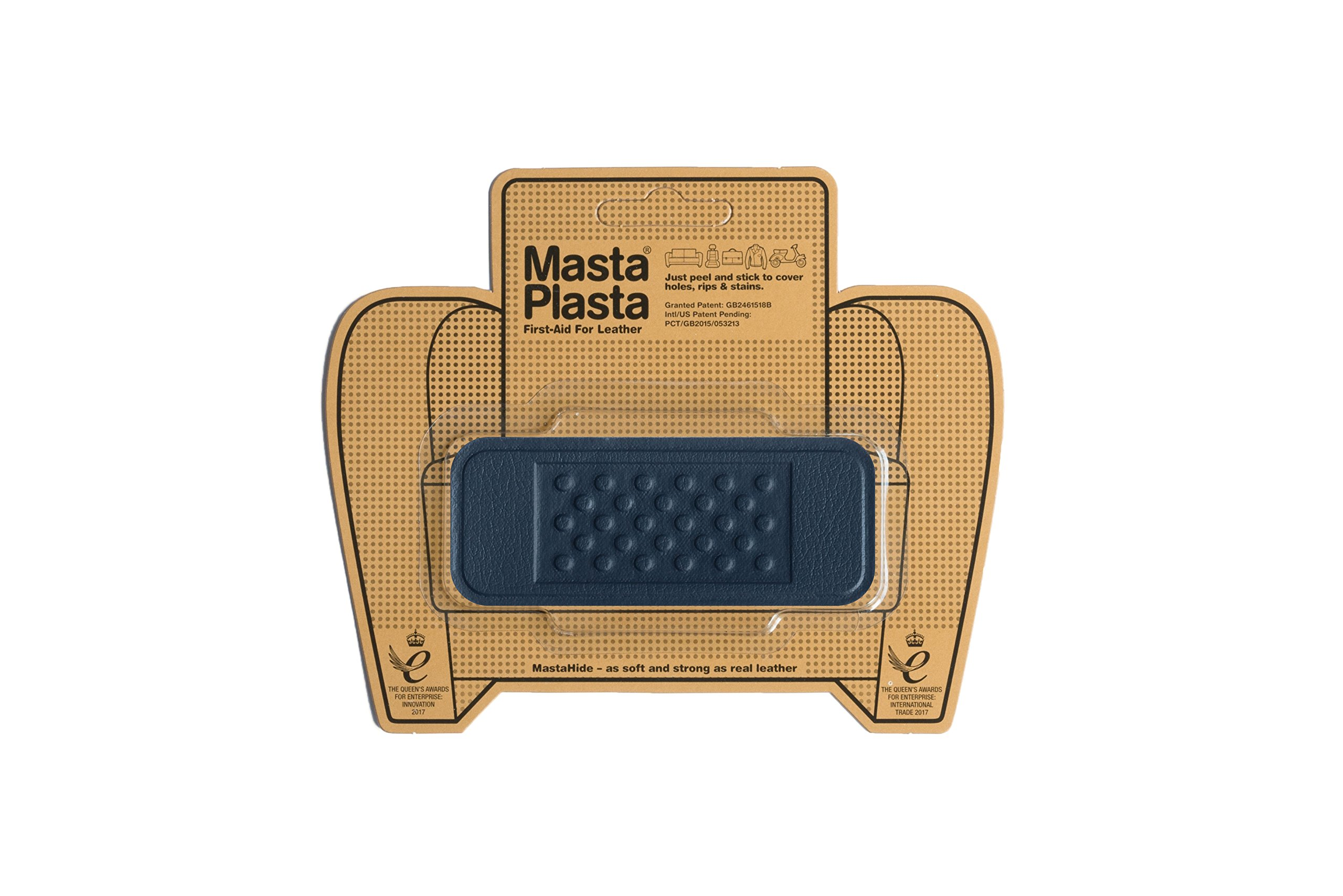 MastaPlasta Self-Adhesive Patch for Leather and Vinyl Repair, Bandage, Navy– Multiple Colors Available