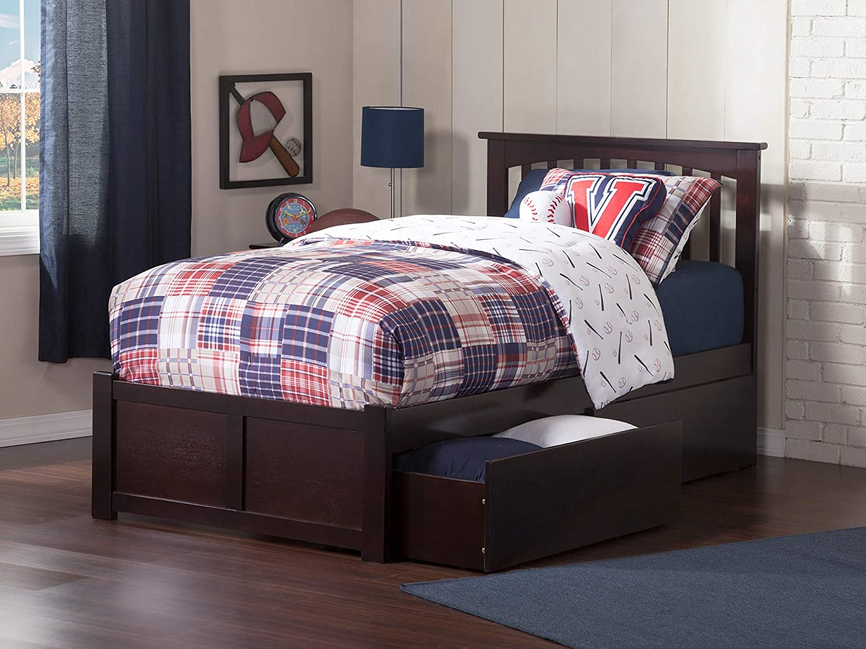 Atlantic Furniture AR8722111 Bed, Twin, Espresso