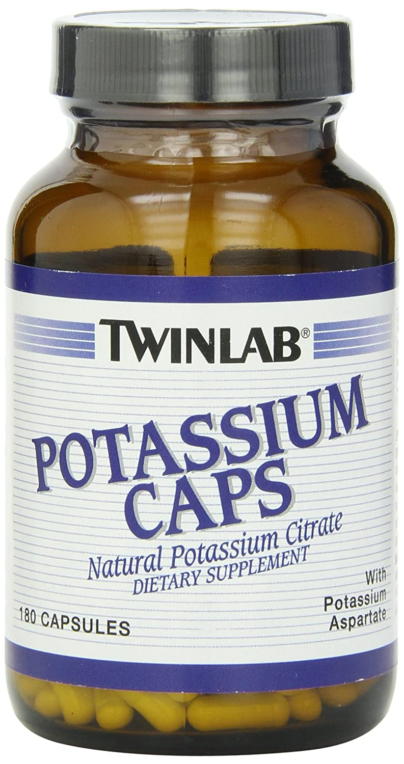 海外直送品Twinlab Potassium, 180 Caps 99 MG (Pack of 3) B001G7QMQW