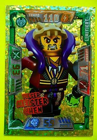 Lego Ninjago 1 x Karte Ultra Meister Chen limitiert Baukästen & Konstruktion