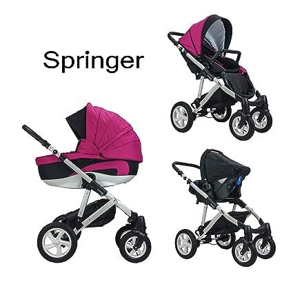 Carrito de bebé combinado Springer CityStyle 3 en 1, primer equipamiento con capazo, portabebés
