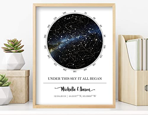 Personalized Star Map | Wall Art, Special Occasion Gift