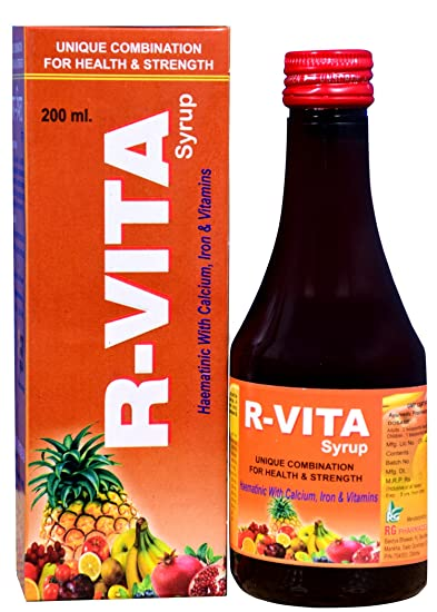 Buy R Vita Syrup Health Tonic 200 Ml Pack Of 2 X 100 Ml Syrup
