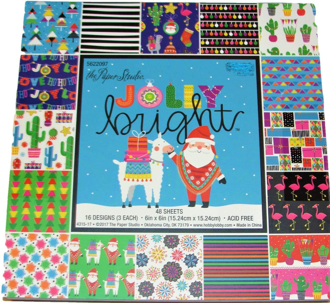 Christmas Scrapbook Paper.Amazon Com Jolly Bright 6x6 Inch Paper Pad Christmas