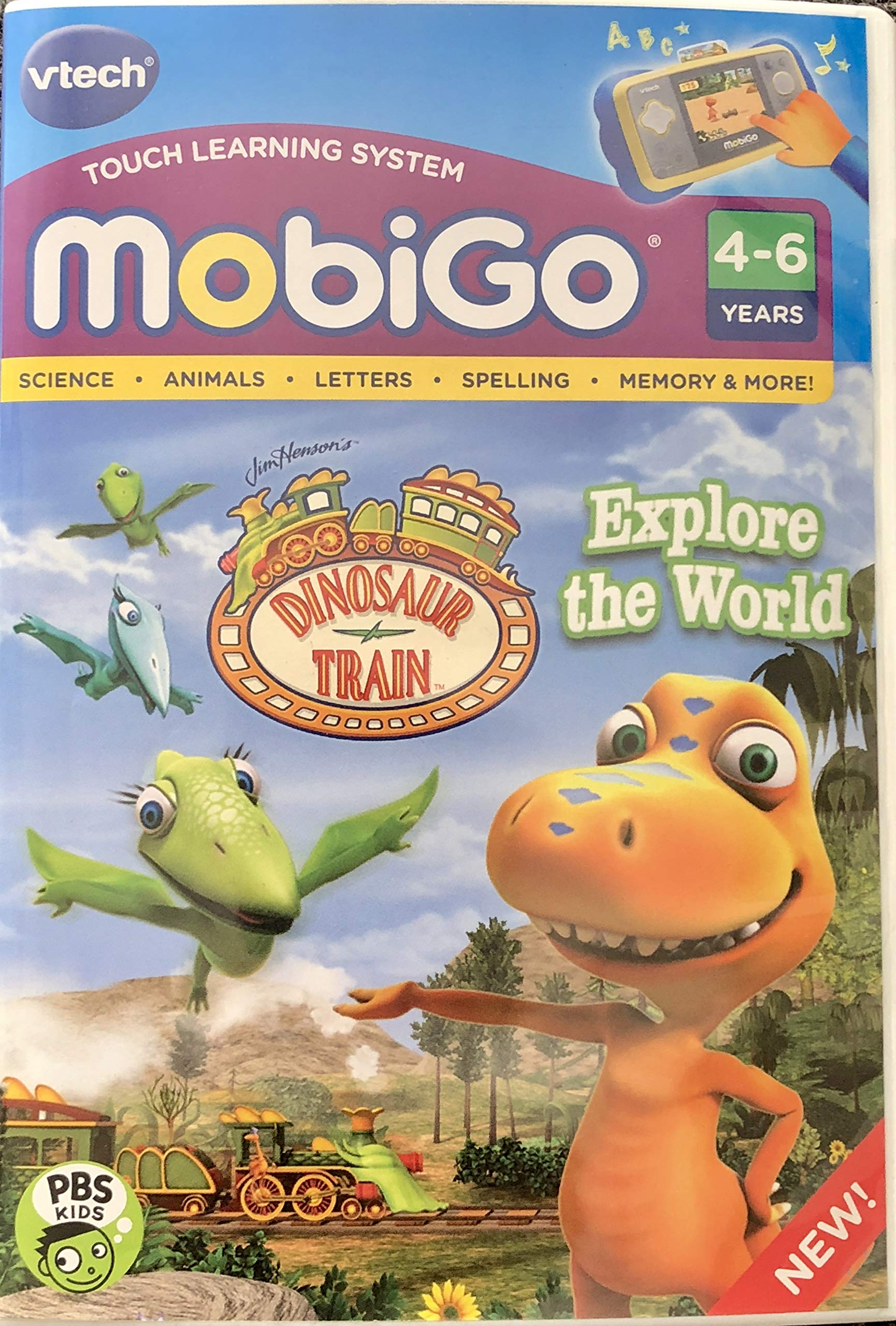 MobiGo Vtech Touch Learning System Bundle Includes: 4X Games - Disney Fairies, Disney Princess, Dinosaur Train, Monsters University & $20 Download Card (Bundle One) by MobiGo (Image #2)