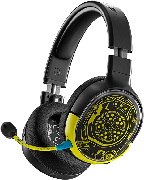 Amazon Com Steelseries Arctis 1 Wireless Cyberpunk 2077 Limited Edition Gaming Headset Usb C Wireless Detachable Clearcast Microphone Compatible With Pc Ps4 Nintendo Switch And Lite Android Netrunner Video Games