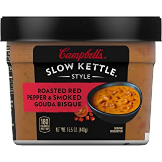 Campbell'sSlow Kettle Style Roasted Red Pepper & Smoked Gouda Bisque, 15.5 oz. Tub