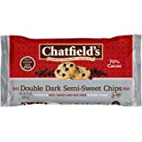 Chatfield's All Natural Baking Chips, Double Dark Semi-Sweet, 10 Ounce
