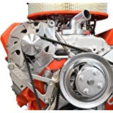 ICT Billet SBC Billet Alternator Bracket Adjustable LWP Small Block Chevy Kit 305 327 350 383 5.0L 5.7L V8 Eight…
