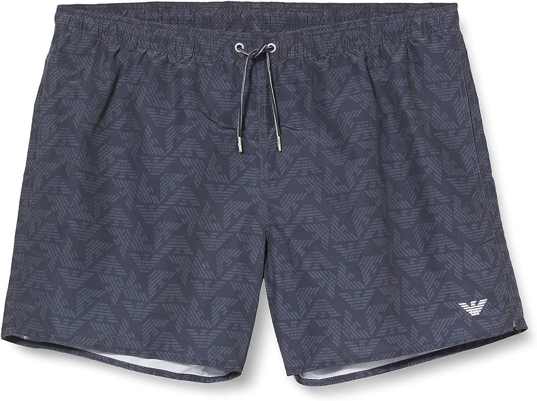 Emporio Armani Men's Boxer Swim Shorts, Grey