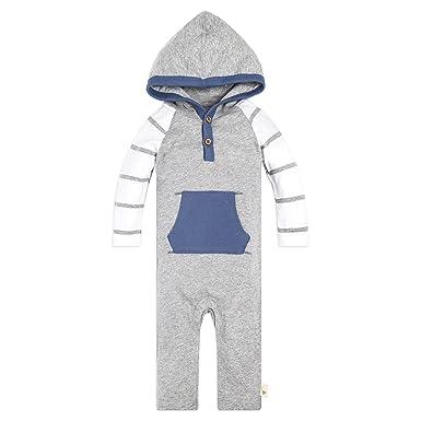 b98417637 Burt's Bees Baby Baby Boys' Romper Jumpsuit, 100% Organic Cotton One-Piece