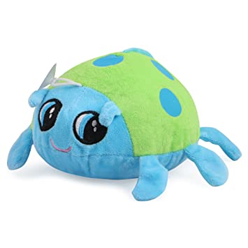 Chocozone 18cm Cute Multicolor Beetle / Ladybug Stuffed Soft Toy for Kids - Blue & Green
