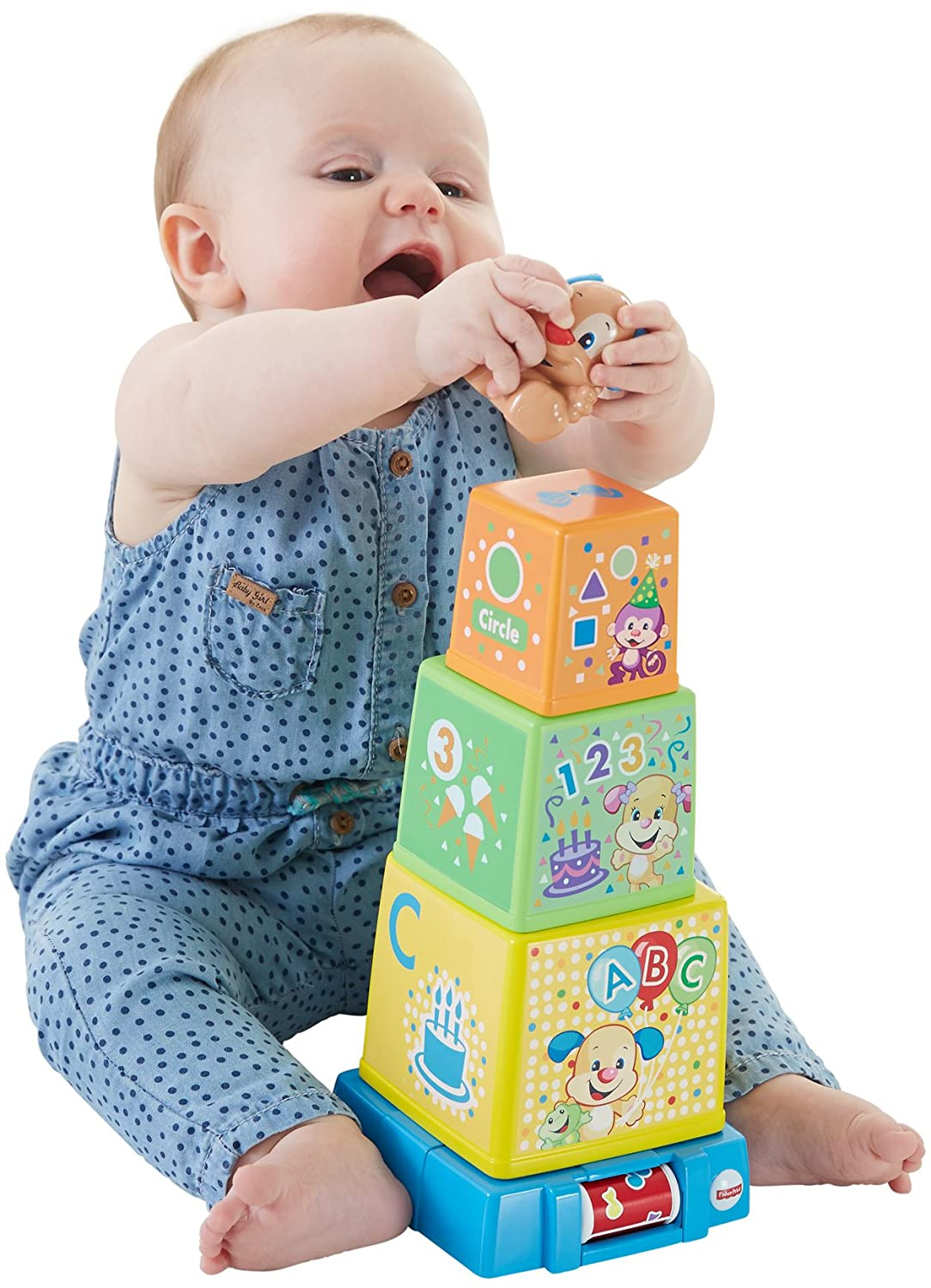 Fisher-Price Laugh & Learn Stack & Surprise Presents Mattel DRF54