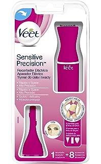 Veet Sensitive Precision - Recortador eléctrico de pelo, 8 accesorios, color rosa