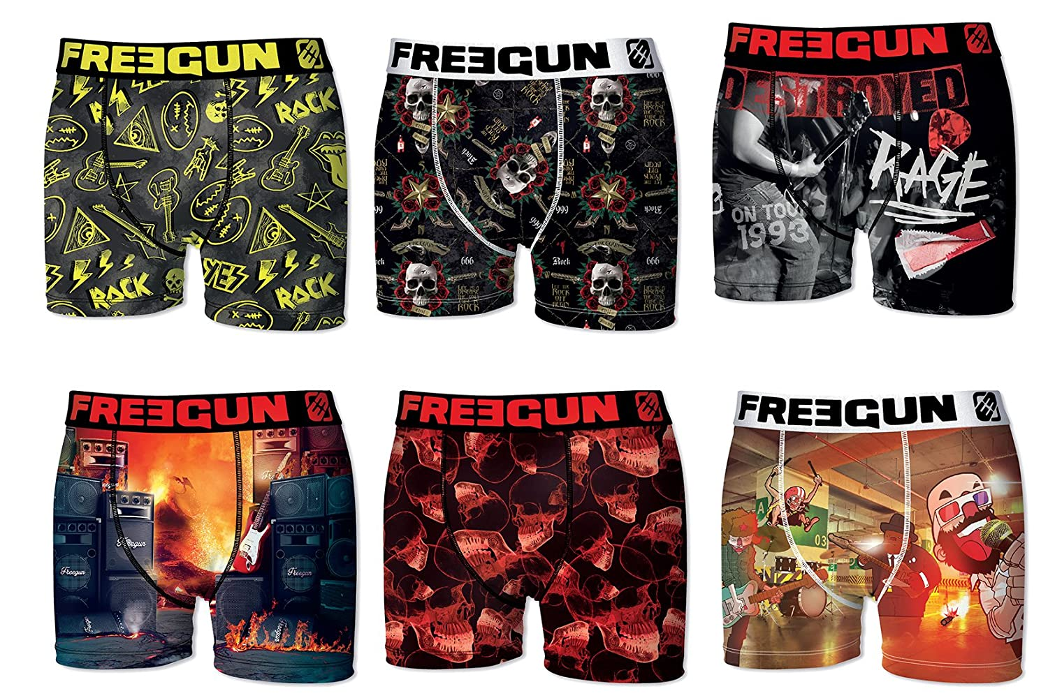 Freegun. UNDERWEAR メンズ B0796T1RPK Large Pack By 6 Pack By 6 Large