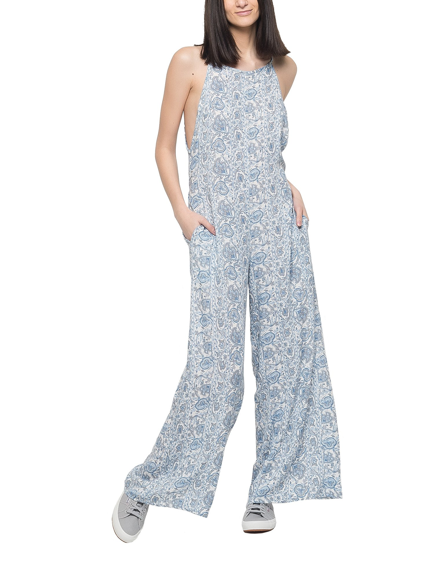 Ppla Women's Gemma Women's Blue Jumpsuit in Size S Blue