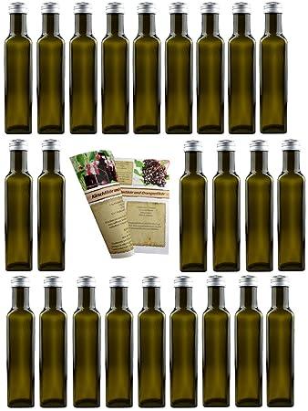 24er Set Leere Glasflaschen Mara Antik 250 Ml Incl
