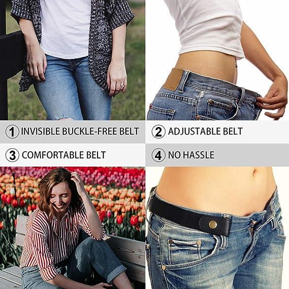 3 Pieces 4 Pieces Buckle Free Adjustable Women Belt