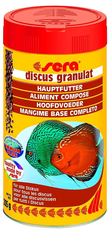 sera 00307 discus granulat 1000 ml - Hauptfutter für alle Diskusfische Aquarium Fischfutter