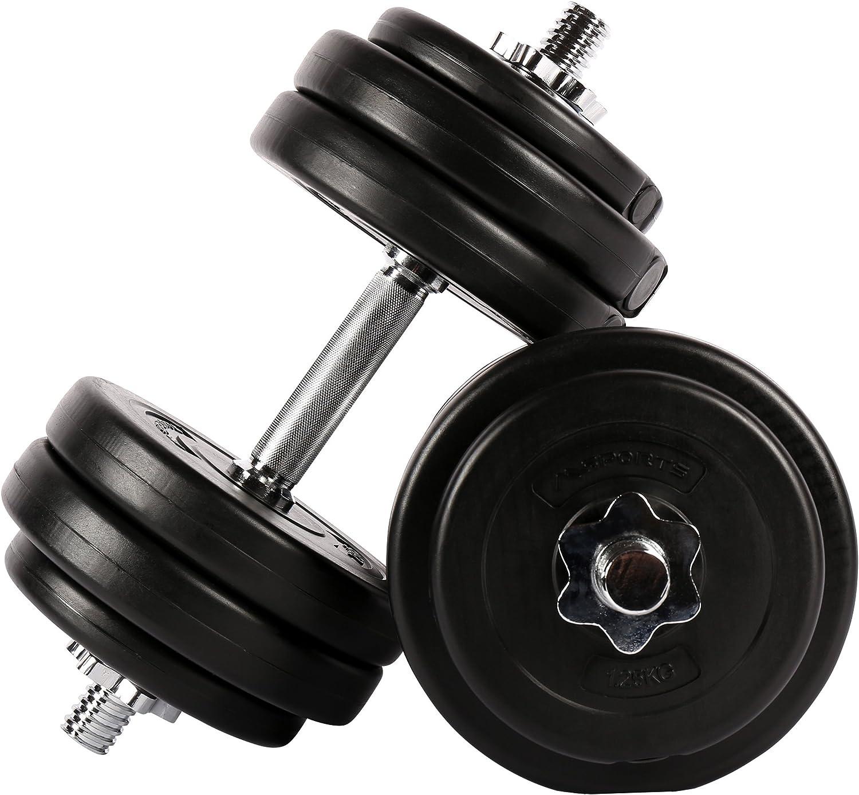 Fitness – Juego para todo el cuerpo – 30 kg mancuernas + Comba con ...
