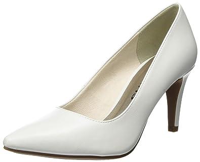 22416, Escarpins Femme, Blanc (White Matt), 38 EUTamaris