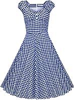 MUXXN Women's 1950s Style Vintage Swing Party Dress