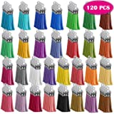 Paxcoo Keychain Tassels Bulk for Acrylic Keychain Blanks and Key Chains Multicolor